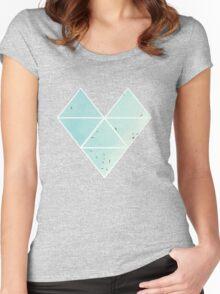 Free Birds in Blue Sky Women's Fitted Scoop T-Shirt