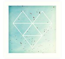 Free Birds in Blue Sky Art Print