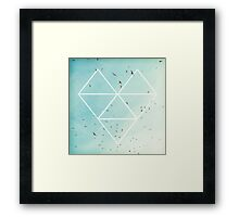 Free Birds in Blue Sky Framed Print