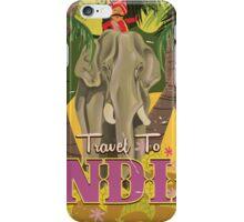 indian elephant vintage travel poster, iPhone Case/Skin