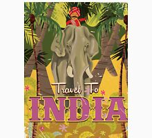 indian elephant vintage travel poster, Classic T-Shirt