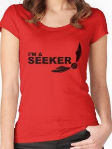 I'm a Seeker - Black ink Women's Fitted Scoop T-Shirt