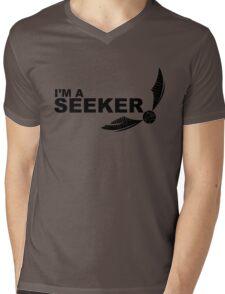 I'm a Seeker - Black ink Mens V-Neck T-Shirt