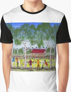 """Day at the Cricket""    SOLD Original Acrylic Painting EJCairns  Graphic T-Shirt"