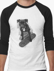 SK8 Staffy Dog black and white T-Shirt