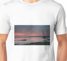 Red Sunset over Sound of Jura Unisex T-Shirt