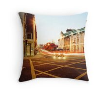 Dusk Traffic Throw Pillow