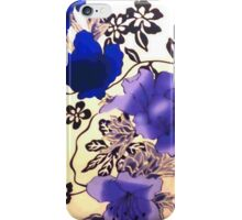 Blue And Purple Flowers iPhone Case/Skin