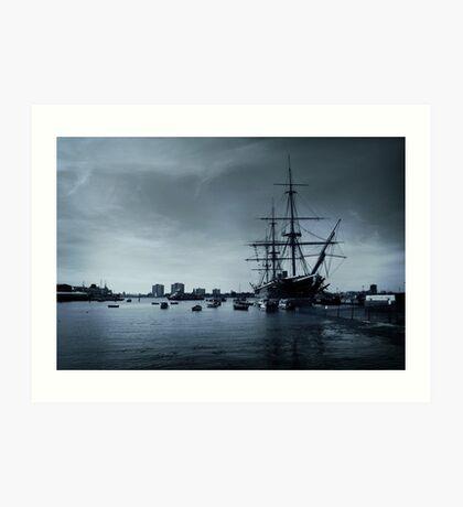 THE HMS Warrior 1860 Art Print