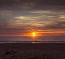 Sunset at the beach I by CarlaSophia
