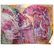 If God had meant us to fly he'd have given us wings - Original Wall Modern Abstract Art Painting Poster