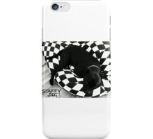 Staffy Dog black on black and white iPhone Case/Skin