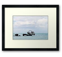 Wreck of the Ozone Framed Print
