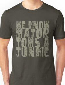 Major Tom khaki text Unisex T-Shirt