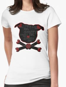 Staffy Dog and Crossbones of Love T-Shirt
