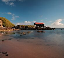 Dunaverty Bay Boathouse and Sea Captains Quarters by Maria Gaellman