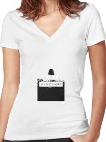 6 Feet Under Women's Fitted V-Neck T-Shirt