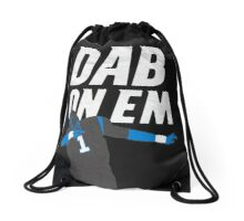 Dab On Em Carolina Panthers Drawstring Bag