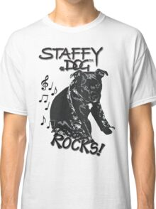 Staffy Dog Rocks! Classic T-Shirt