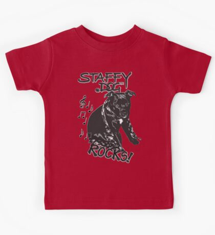 Staffy Dog Rocks! Kids Tee
