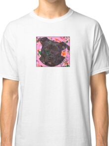 Staffy Dog Goes Floral! Classic T-Shirt