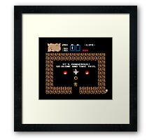 punctuation is everything Framed Print