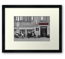 Old time barber shop Framed Print