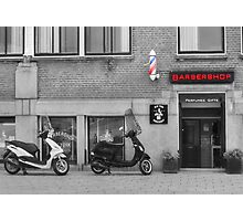 Old time barber shop Photographic Print