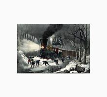 American railroad scene - snowbound - Currier & Ives - 1871 Unisex T-Shirt