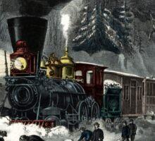 American railroad scene - snowbound - Currier & Ives - 1871 Sticker