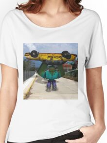Minecraft: Mutant Zombie with Taxi Women's Relaxed Fit T-Shirt