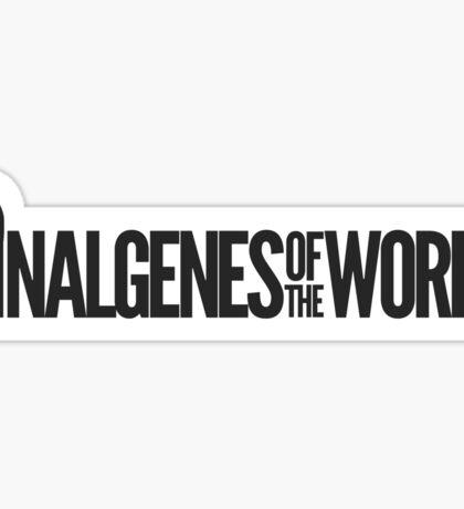 Nalgenes of the World Sticker Black Sticker