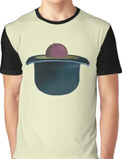 A single plum floating in perfume served in a man's hat Graphic T-Shirt