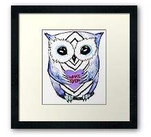 Apathetic Owlentines Day Framed Print