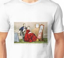 An artist in hair - Currier & Ives - 1871 Unisex T-Shirt
