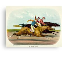 An exciting finish - Currier & Ives - 1884 Canvas Print