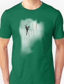 Woman Climbing a Wrinkle Unisex T-Shirt