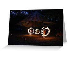 Bushmoot Fire Poi Greeting Card