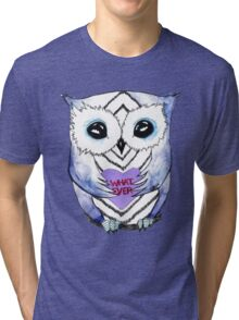 Apathetic Owlentines Day Tri-blend T-Shirt