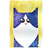 Black-white cat Poster