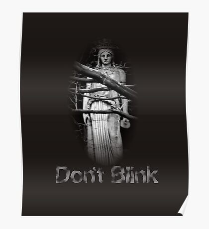 Don't Blink Weeping Angel  Poster