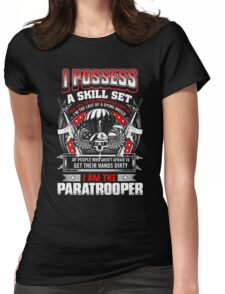paratrooper, airborne, airborne mom, airborne brotherhood, airborne wife  Womens Fitted T-Shirt