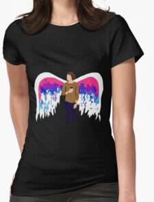 Ashton Angel Wings Womens Fitted T-Shirt