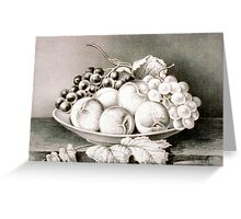 An inviting dish - Currier & Ives - 1870 Greeting Card