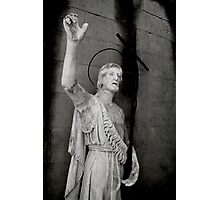 Beautiful old stone religious statue of Jesus Photographic Print