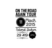 11th March - National Stadium OTRA Photographic Print