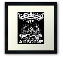 airborne infantry mom airborne jump wings airborne badge airborne brot Framed Print