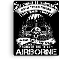 airborne infantry mom airborne jump wings airborne badge airborne brot Canvas Print