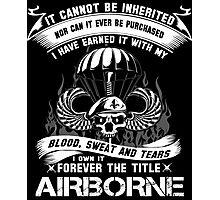 airborne infantry mom airborne jump wings airborne badge airborne brot Photographic Print