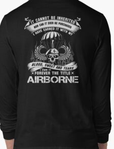 airborne infantry mom airborne jump wings airborne badge airborne brot Long Sleeve T-Shirt